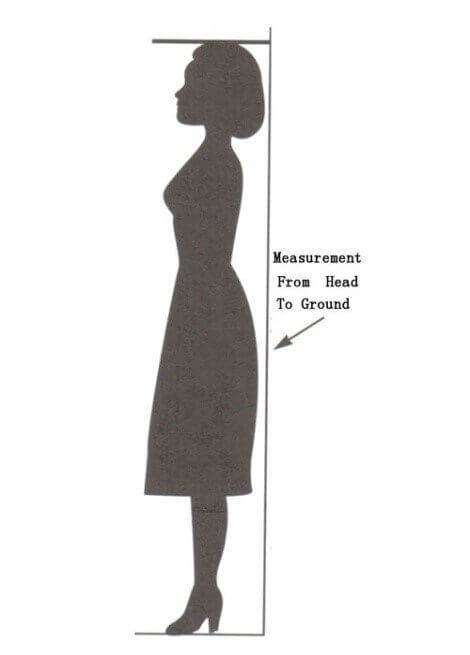 Measurement from head to ground