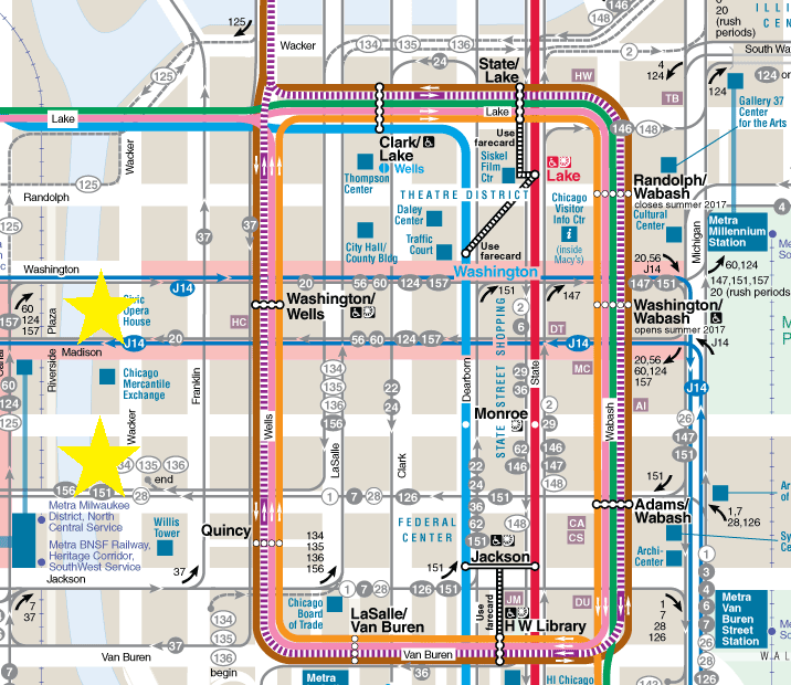 CTA Loop map