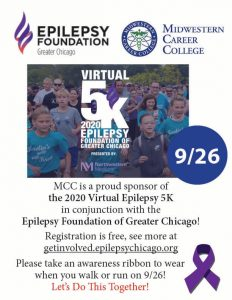 Epilepsy Foundation of Greater Chicago Virtual 5K Flyer