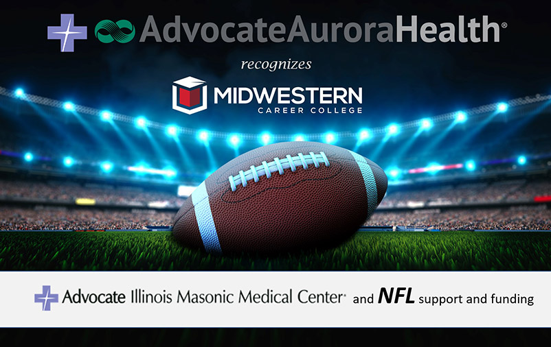 Midwestern Career College partnership with Advocate NFL scholarship