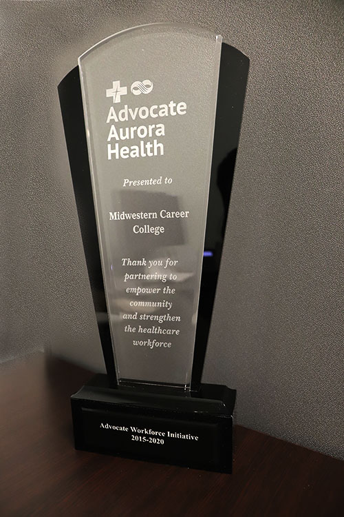 award given to MCC by Advocate Aurora Health